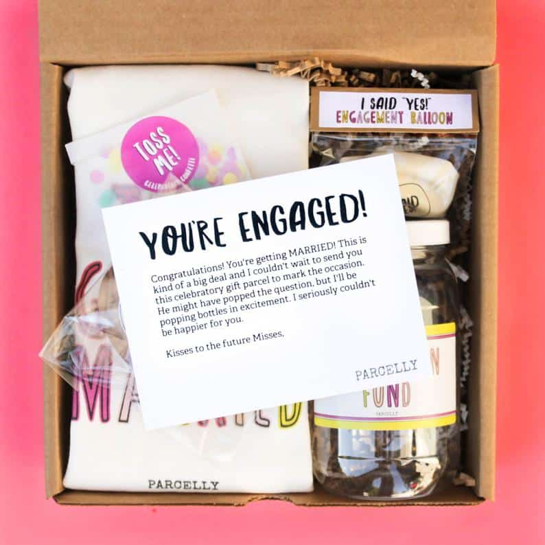 Engagement Gift Baskets for Lesbian Couples: Just Engaged Gift Box