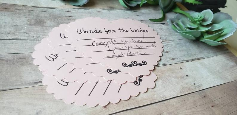 Words For The Grooms Guest Heart Cards
