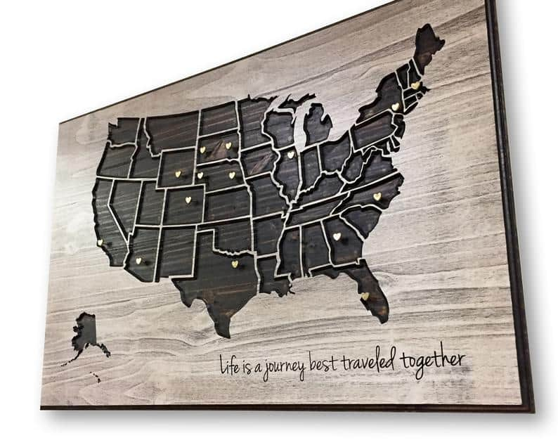 Personalized Push Pin Map