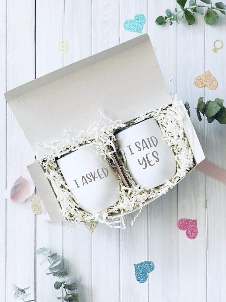 Couples Engagement gift box