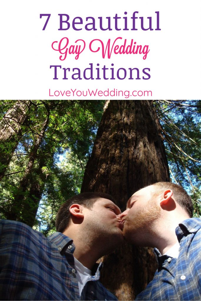 Traditions in general can be beautiful, but gay wedding traditions manage to go the extra mile into creating unforgettable moments.