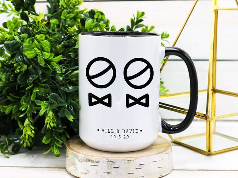 Personalized  Gay Wedding Mug