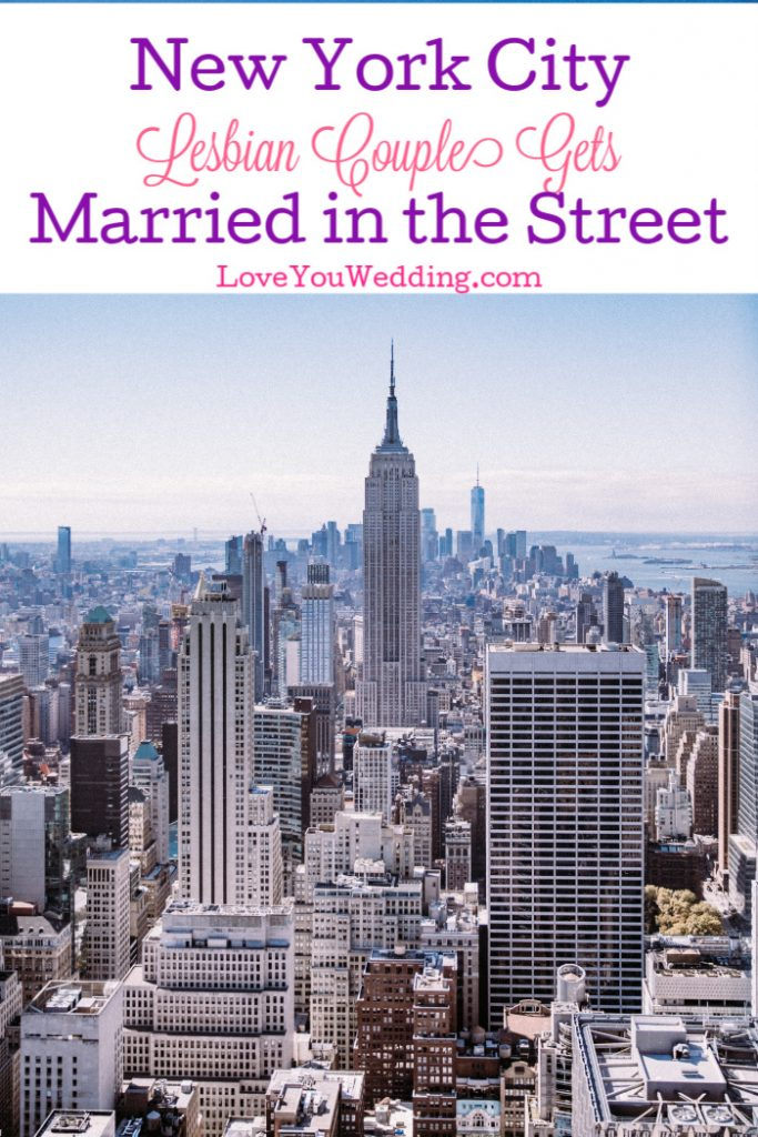Coronavirus fears didn't stop one New York lesbian couple from making their dreams come true. They got married right in the street! Read the full story.