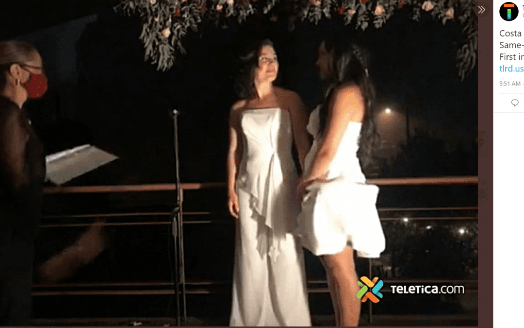 Costa Rica Celebrates Same-Sex Marriage Legalization With Stunning Lesbian Wedding Ceremony