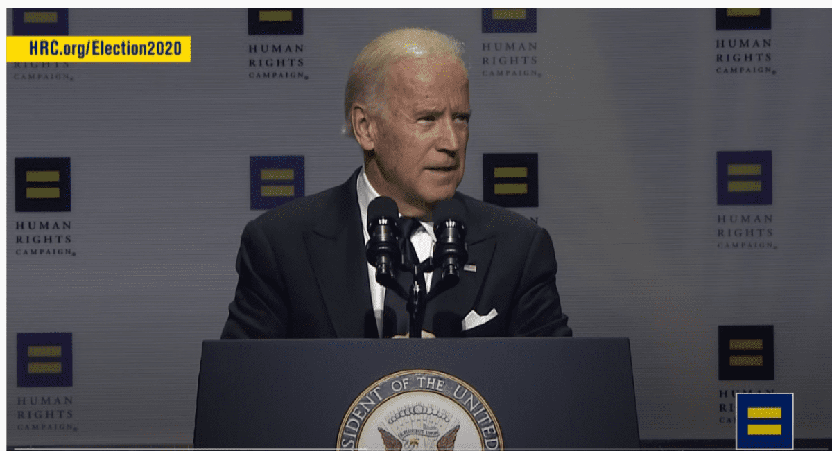 "Eight years ago, Joe Biden went in front of NBC's ""Meet the Press"" cameras to declare his support for legalizing same-sex marriages."