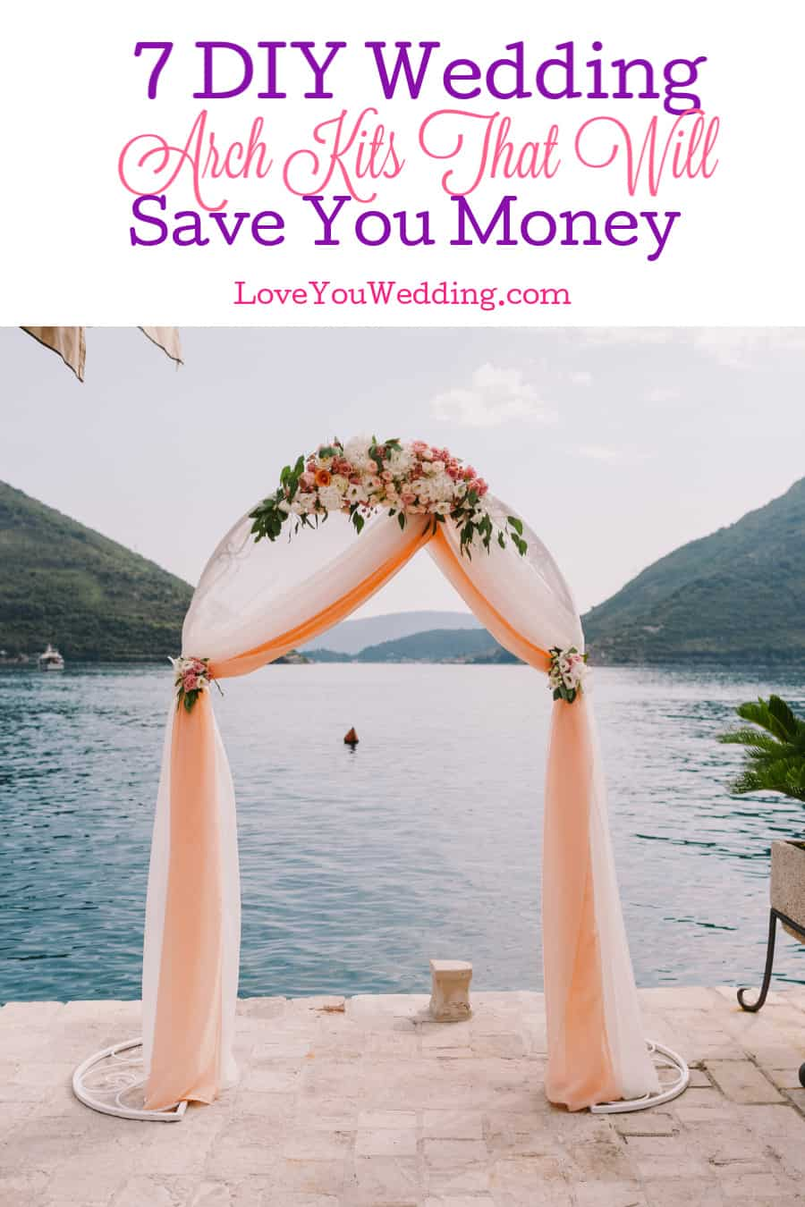 Save a bundle on your big day without sacrificing style by using one of these fun DIY wedding arch kits to make your own stunning decor! Check them out!