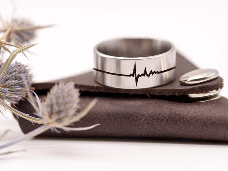 Heartbeat Ring Personalized Gift