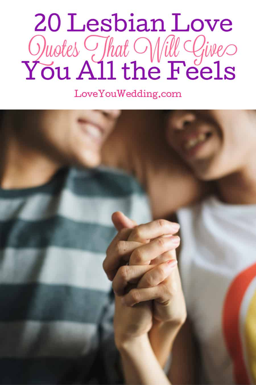 These 20 heartwarming lesbian love quotes will hit you right in the heart. Use them as inspiration for putting your own passion into words!