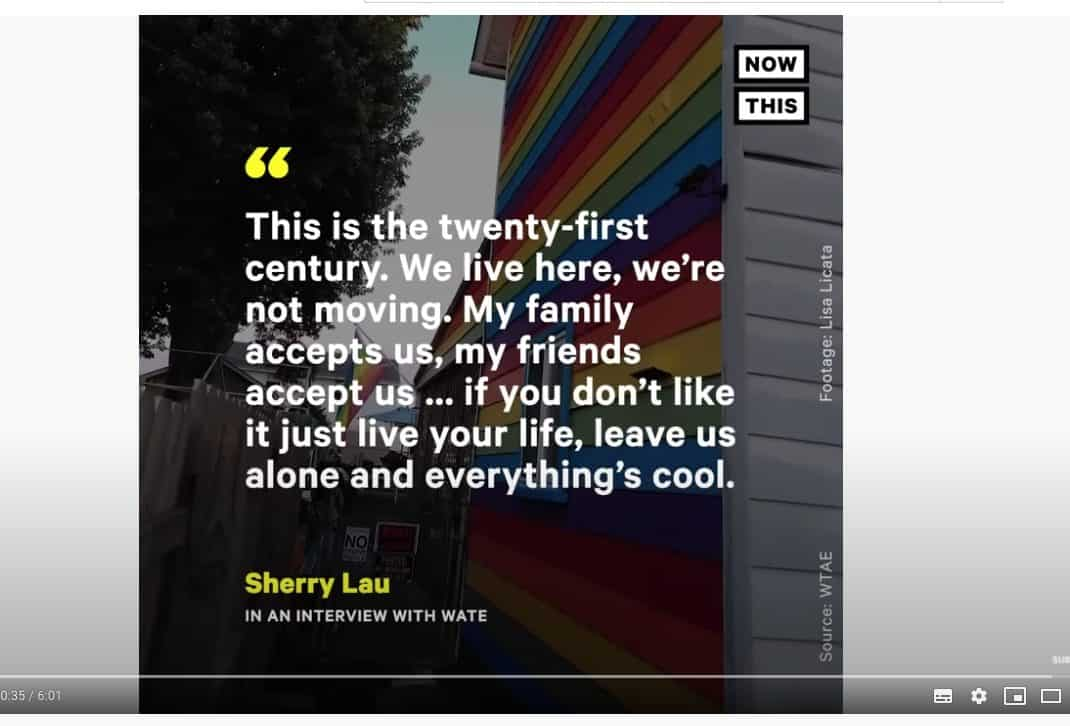 same-sex couple paints house in rainbow flag: Sherry Law Interview with Wate