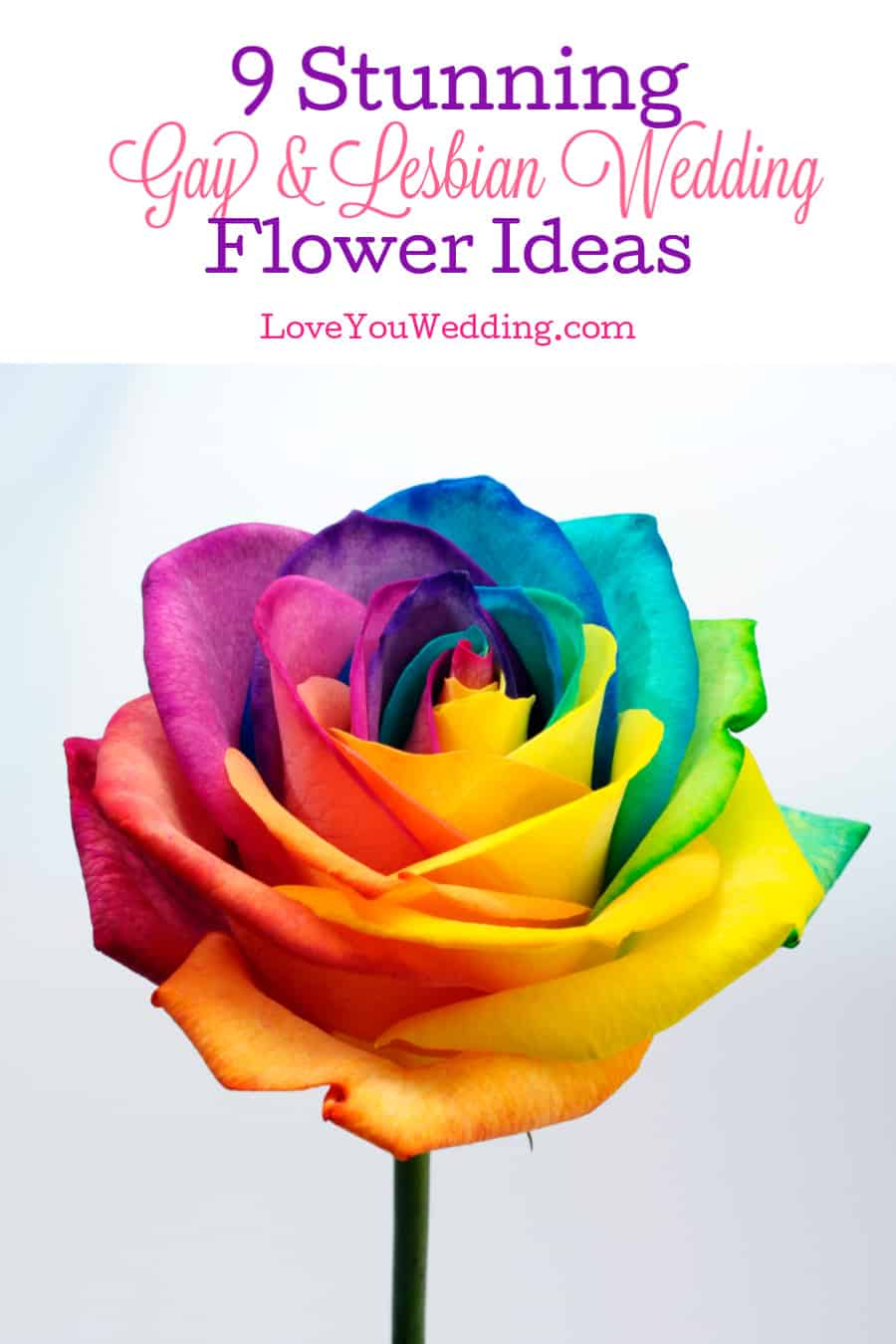 Be it blue and silver, black and red, or rainbow, this article will give you some ideas for your gay and lesbian wedding flowers.