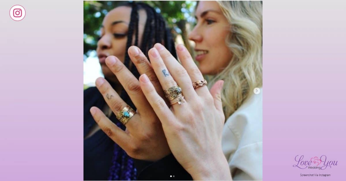 Wedding Pictures of Raven-Symoné & Miranda Pearman-Maday: Showing their rings