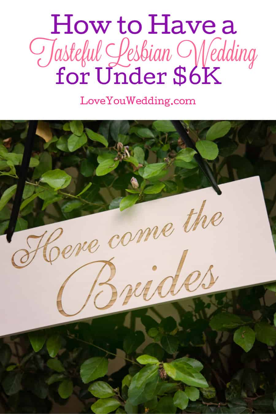Can you organize a tasteful lesbian wedding for less than $6,000? Turns out, it's absolutely possible, as one bride proved on Reddit. See how she did it!