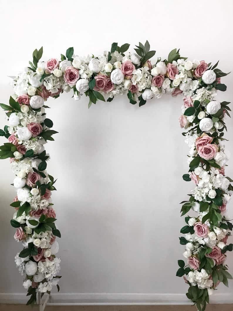 Flower garland Wedding arch Flower arch Floral arch image 0