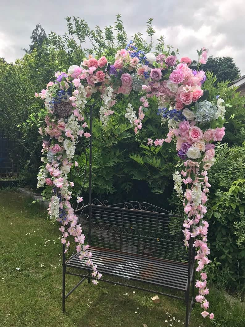 wedding arch garland ideas pastel