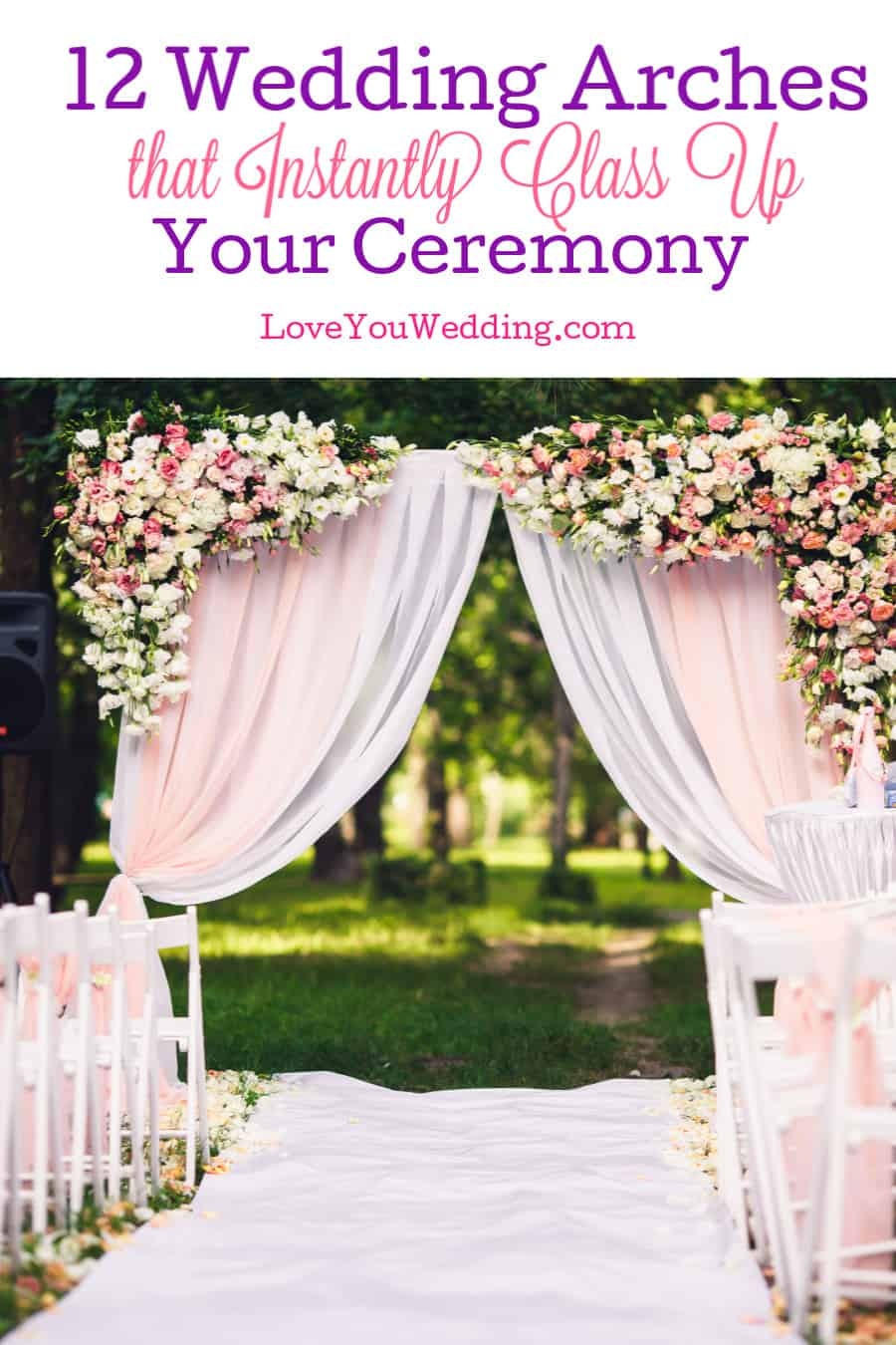 From simple yet elegant to over-the-top stunning, these wedding arch ideas add a whole new dimension of class to your ceremony.