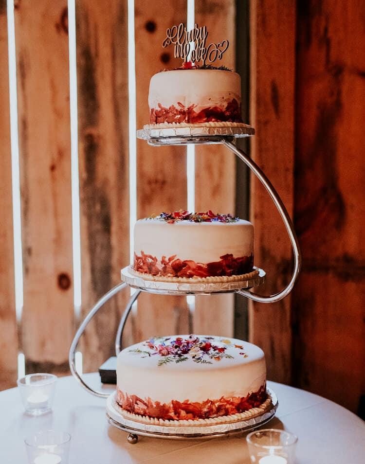 Katrin & Christina's wedding cake, made by Katrin's father.