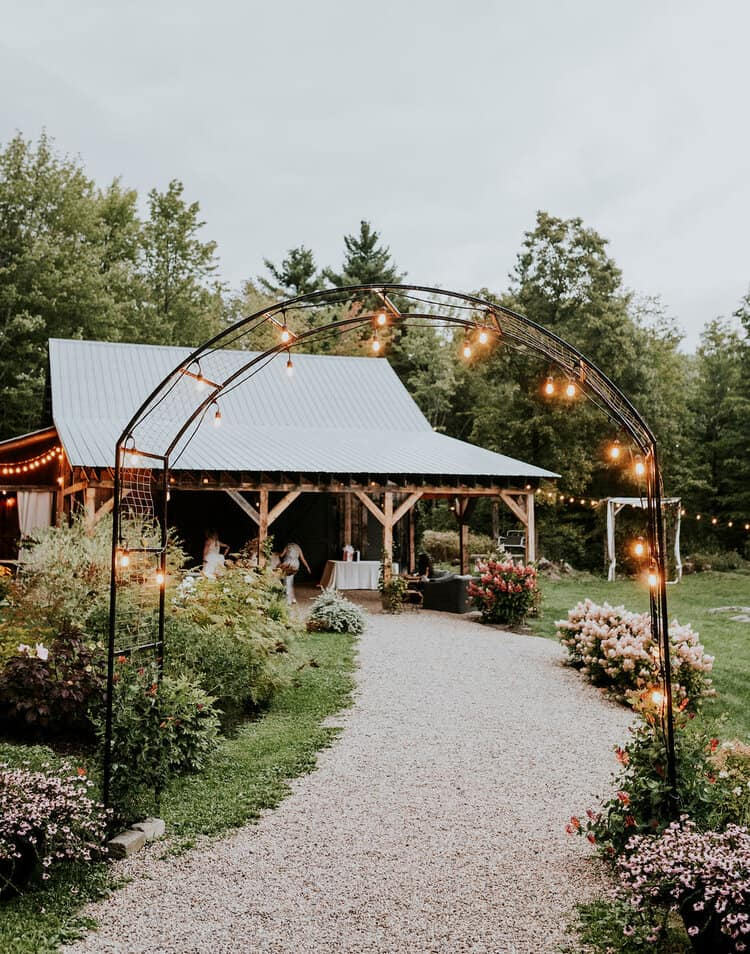 Rustic wedding arch at Katrin and Christina's wedding.