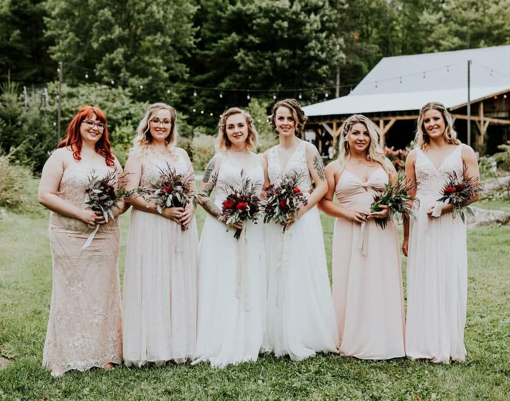 Christina + Katrin wedding party