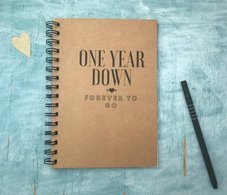 One year down notebook