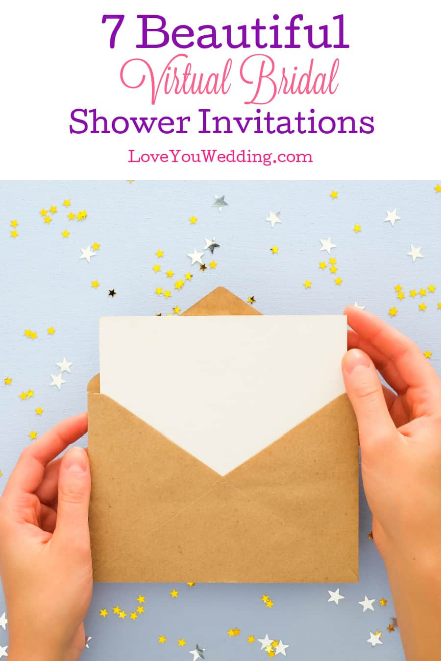 Throwing your pre-wedding party completely online? Then you'll need one of these nifty virtual bridal shower invitations. Check them out!