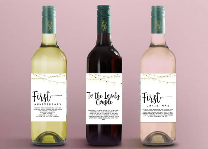 Year of firsts wine labels