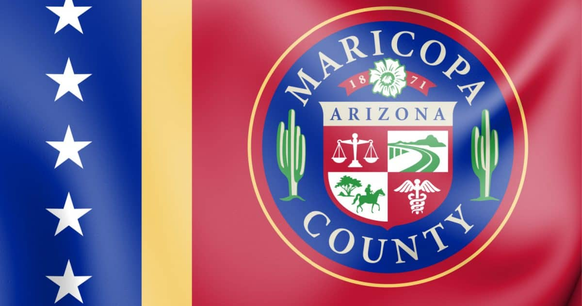 Flag of Maricopa County, where same-sex couples finally have the same adoption rights as opposite-sex couples.
