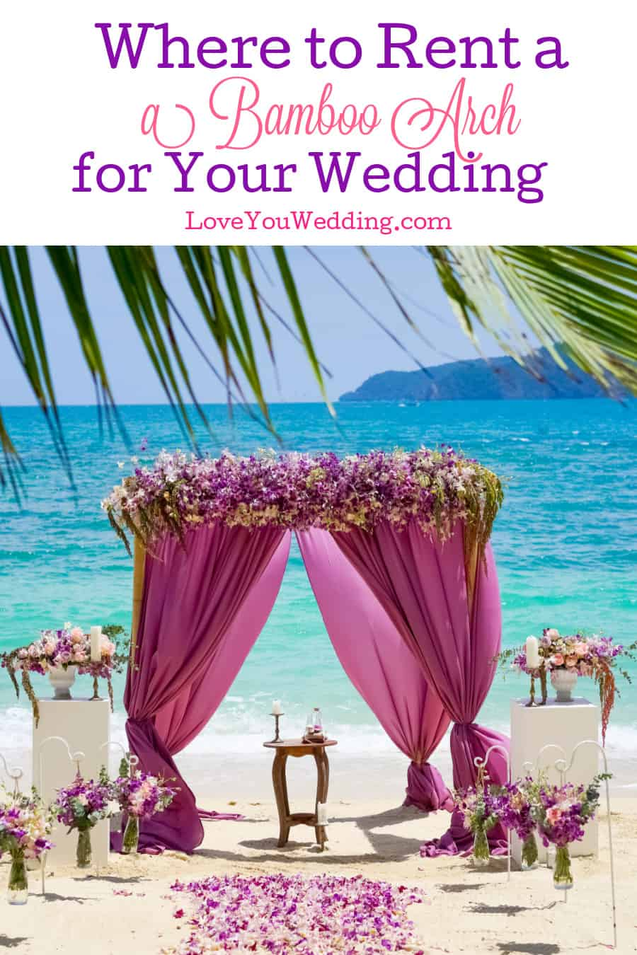Check out tips on how to find a bamboo arch to rent for your wedding.