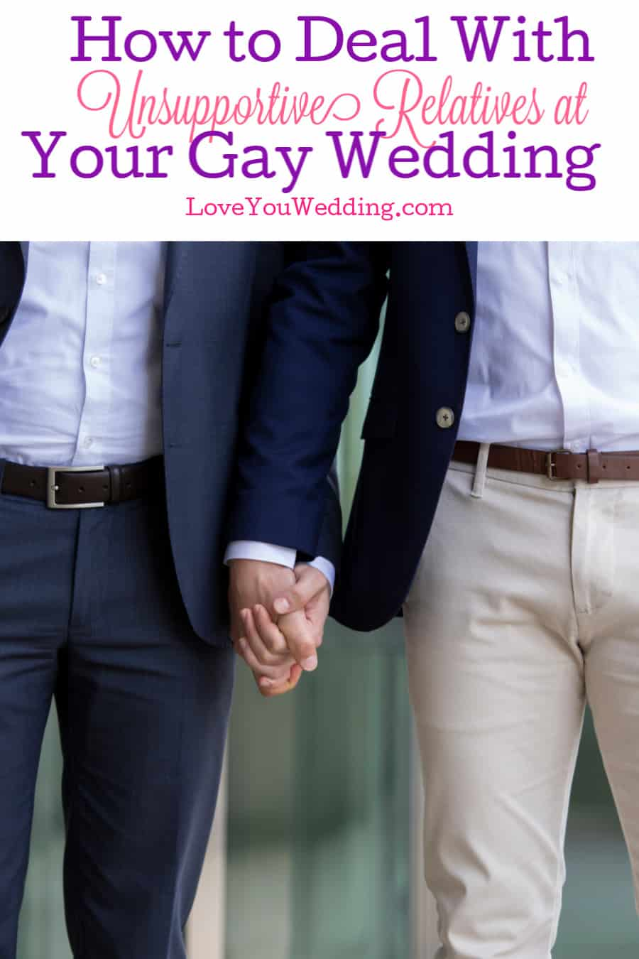 How do you cope with unsupportive relatives at your same-sex wedding? It's not easy, but these tips will help. Take a look.
