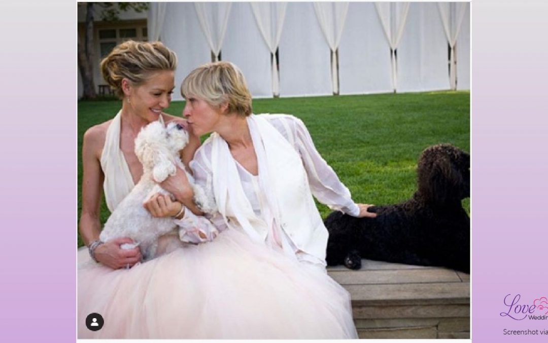 Ellen Shares Rare Wedding Photo Along with Some Very Sad News