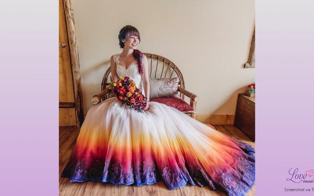 This Bride Turned A Plain White Dress Into A Stunning Masterpiece