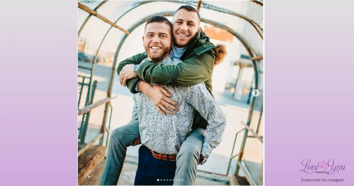 Cody Boykin and Brandon Moss, the couple behind the viral gay marriage proposal