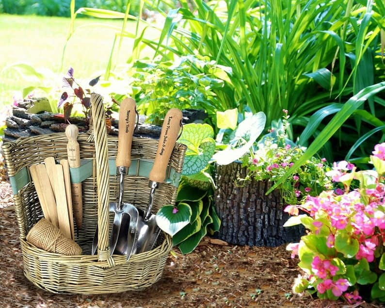 Garden gift basket with tools