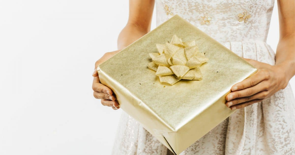gold wedding gift