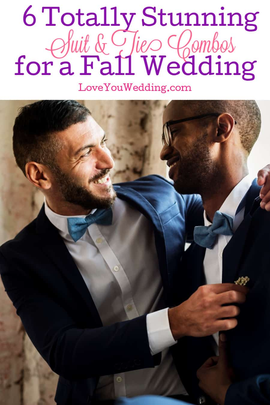 Looking for some amazing ideas for suit and tie combos for a fall wedding? Check out our top six custom outfits that will look absolutely stunning!