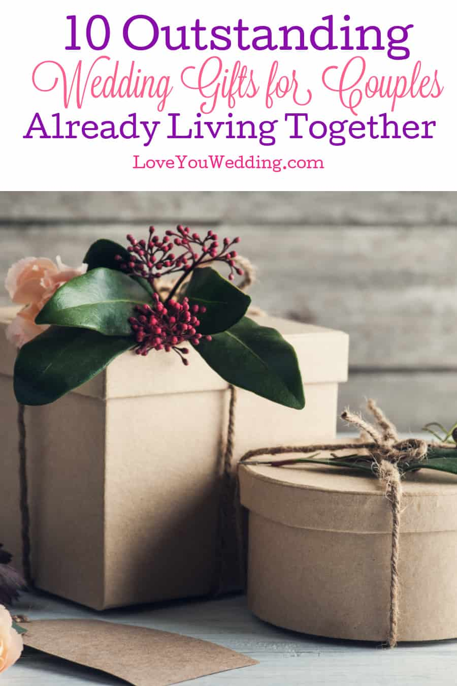 It's often hard to find gift ideas for couples already living together, but we think these top picks will really wow them! Take a look!