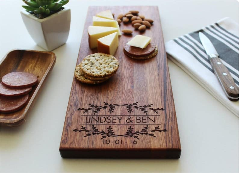 personalized cheese block wedding gift ideas for couples already living together,