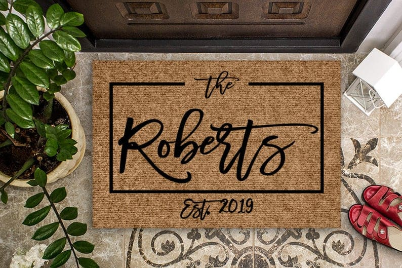 Housewarming Gift Wedding Gift Custom Doormat