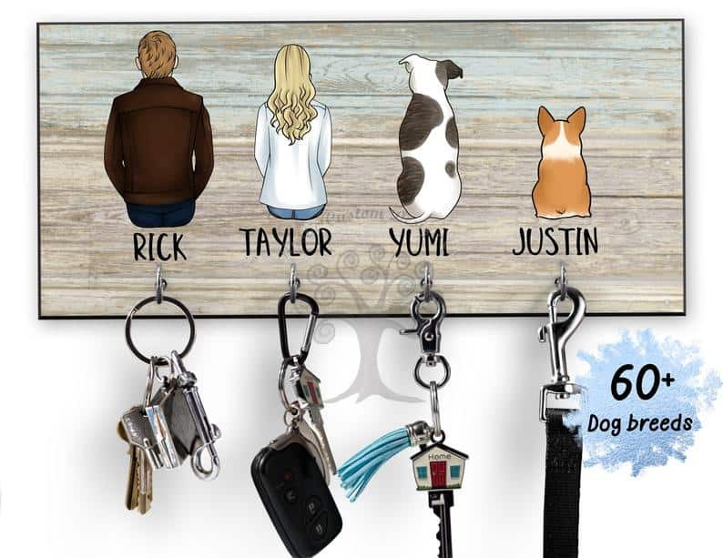 wedding gift ideas for couples already living together- key and leash holder