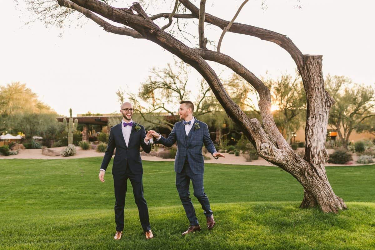 Burke and Malachi epic gay wedding dance