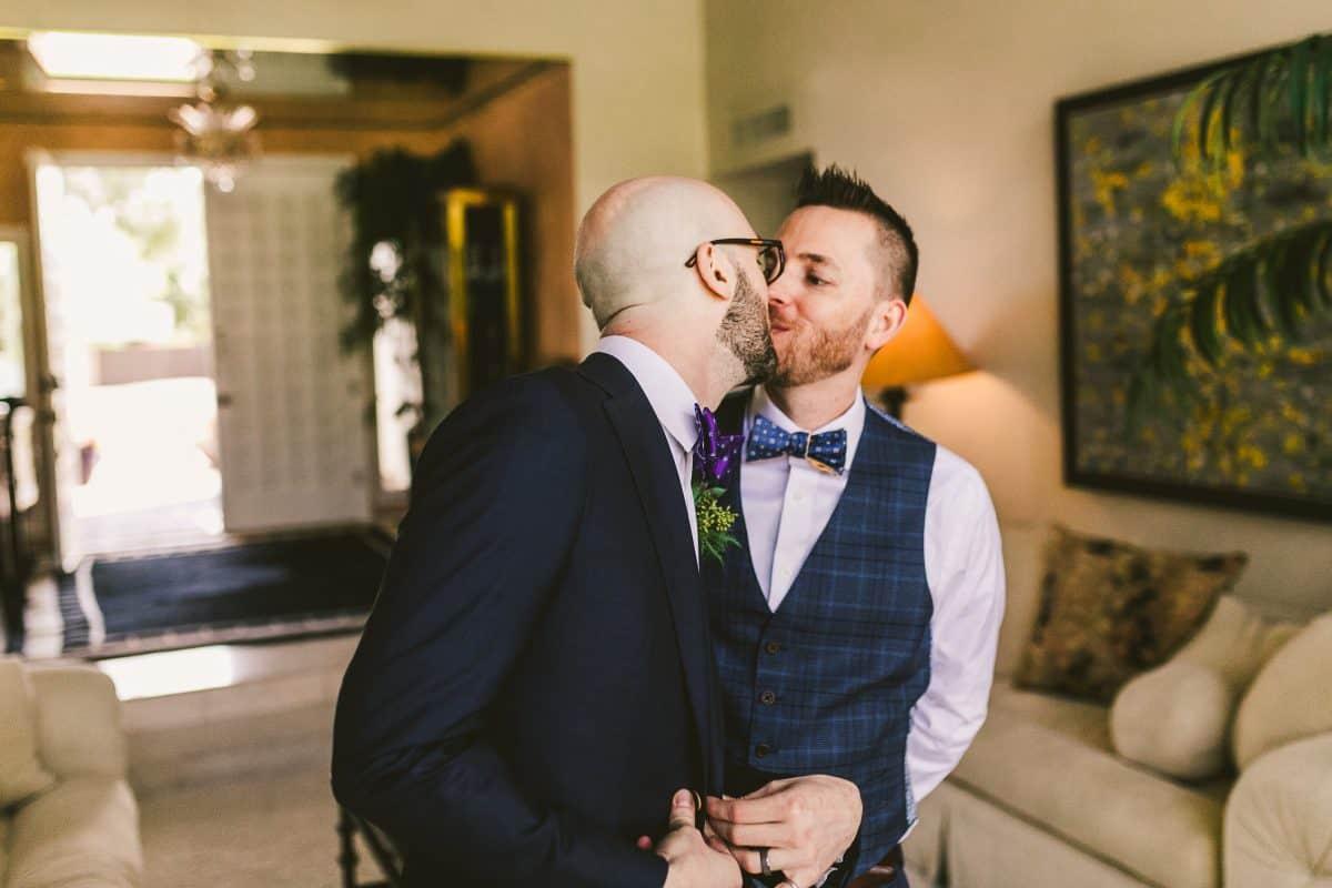 Burke and Malachi share a kiss