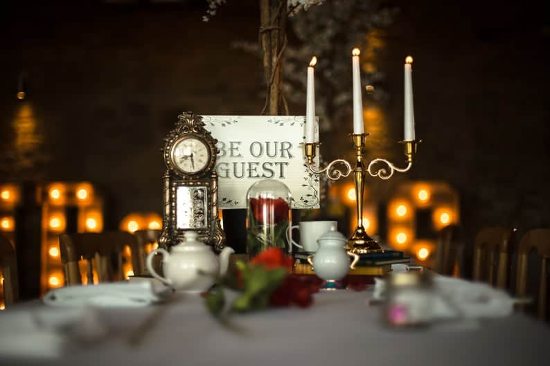 Beauty and the Beast Gold Candelabra with Candles Perfect for image 0