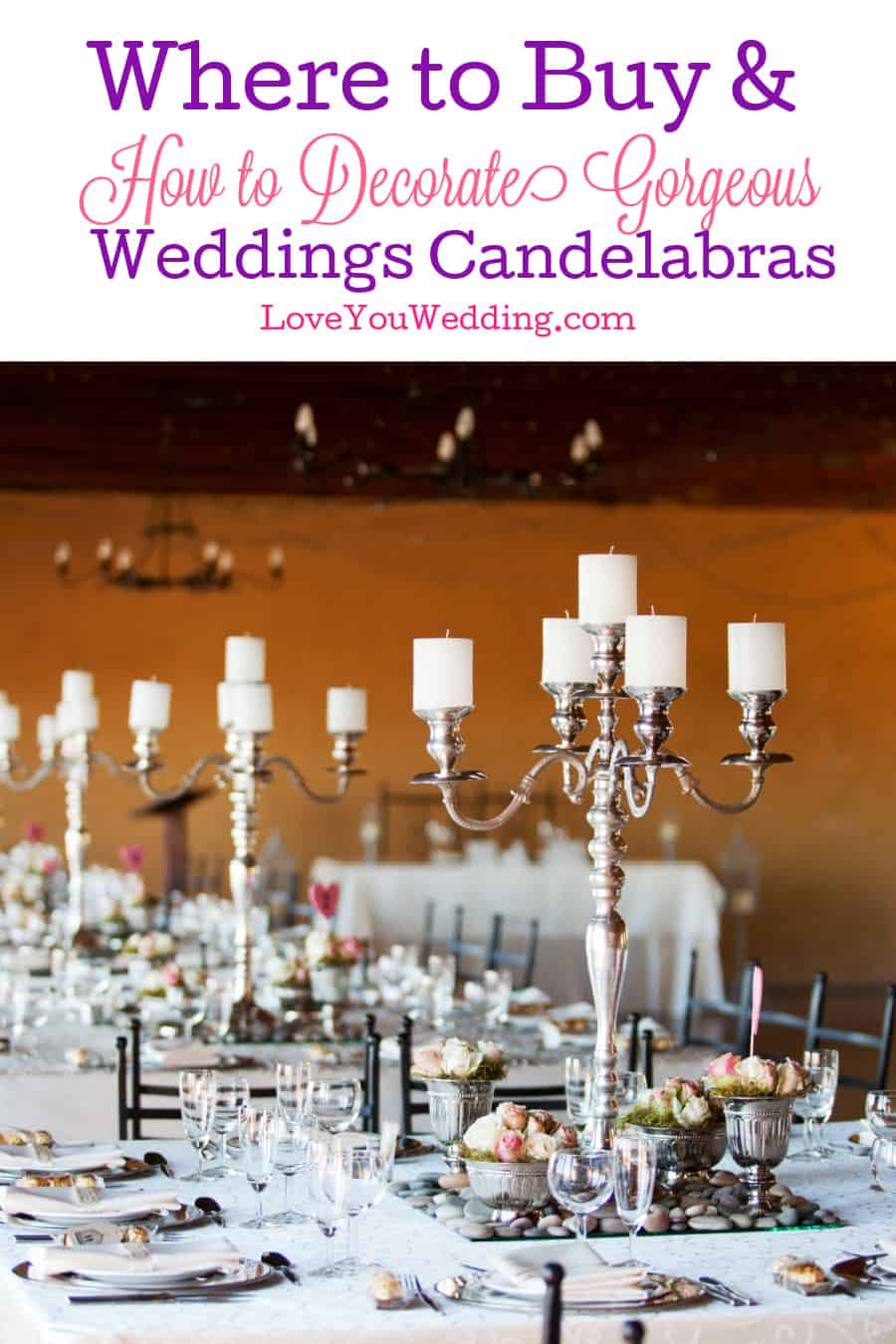 Using candelabras adds such an elegant touch to your wedding. Check out our guide to buying and styling them!