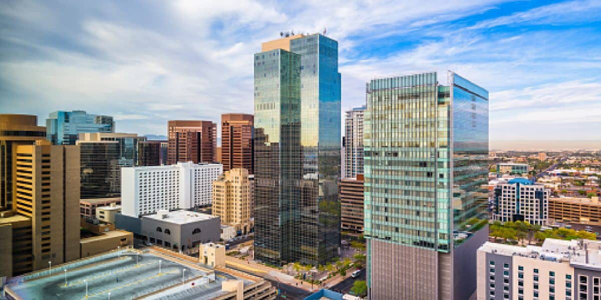 Phoenix, Arizona, USA cityscape in downtown in the afternoon- Court Rules in Favor of Discriminating Against Same-Sex Couples, Orders Phoenix to Pay $136,000+