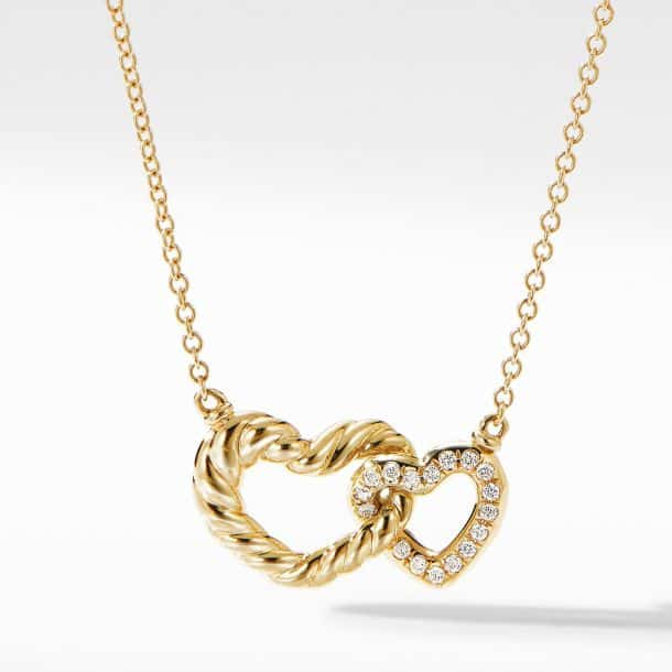 David Yurman Double Heart Pendant Necklace hers and hers jewelry
