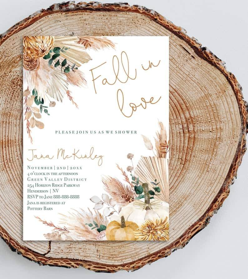 Best lesbian bachelorette and bridal shower party- fall in love invitations