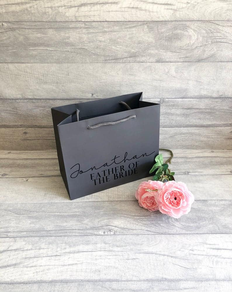 Father Of The Bride Gift Bag