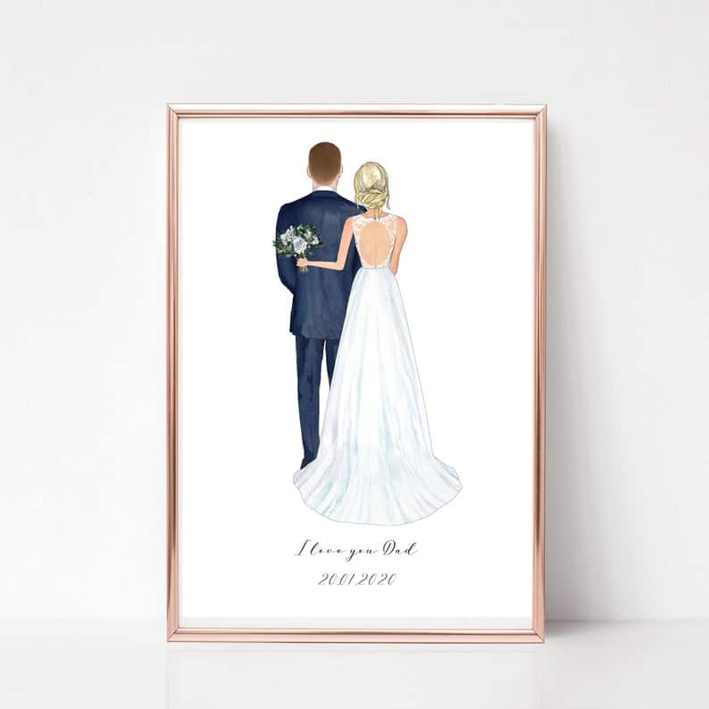 Father of the Bride Gift print