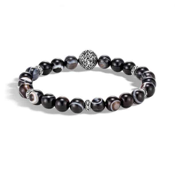 Men's John Hardy Classic Chain Banded Agate Bead Bracelet