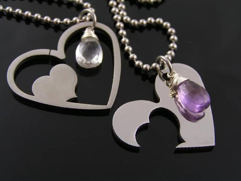 hers and hers jewelry heart necklaces