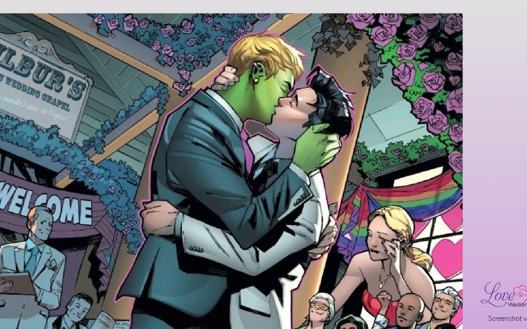 Marvel's Wiccan & Hulking Make Superhero History With Their Same-Sex Wedding